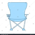 Icon Fishing Folding Chair Thin Line Stock Vector Royalty