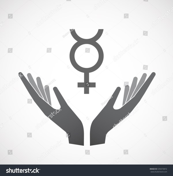 Illustration Isolated Hands Offering Sign Mercury Stock