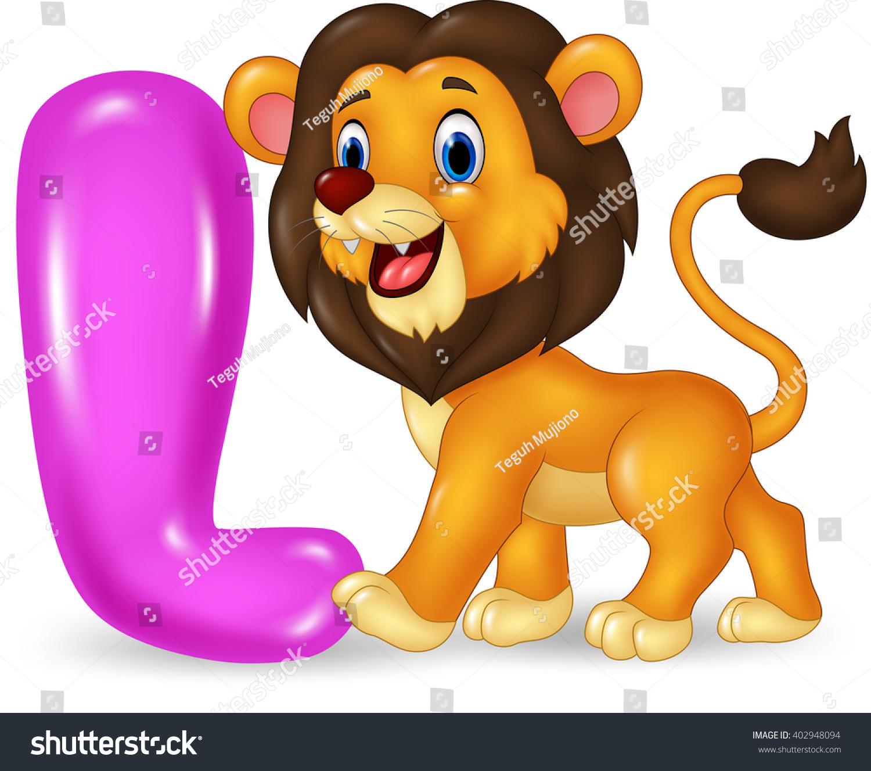 Illustration L Letter Lion Stock Vector