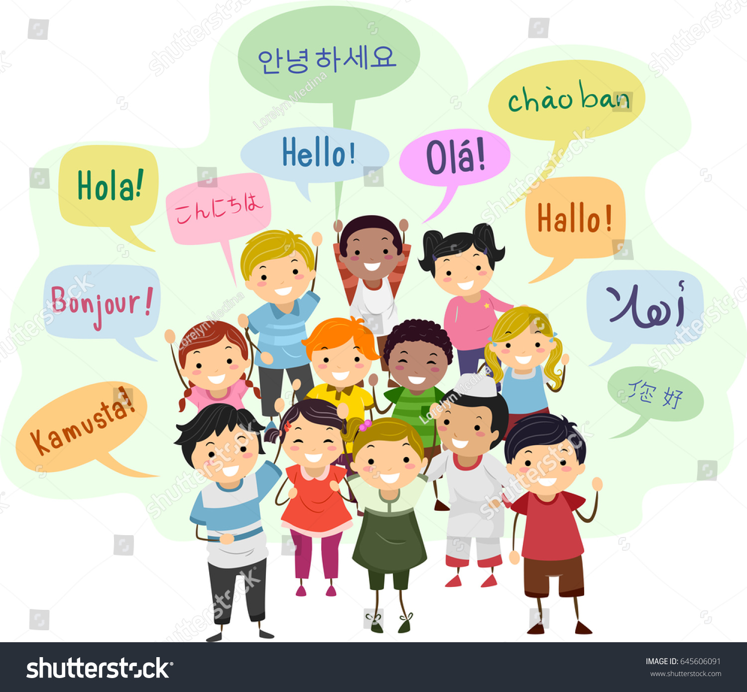 Hello In Different Languages Worksheet