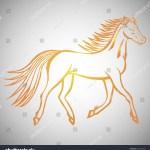 Vector De Stock Libre De Regalias Sobre Illustration Hand Drawn Running Wild Horse583252798