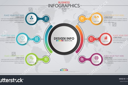 Infographic Business Horizontal Timeline Process Chart Stock Vector     Infographic business horizontal timeline process chart template  Vector  modern banner used for presentation and workflow