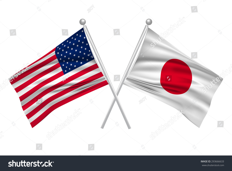 Japan American Flag Stock Vector