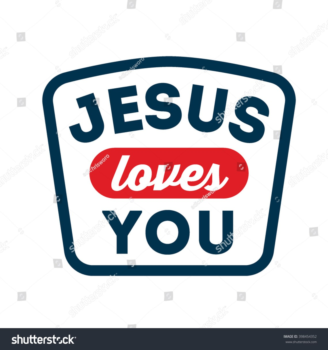 Download Jesus Loves You Typography Isolated White Stock Vector ...