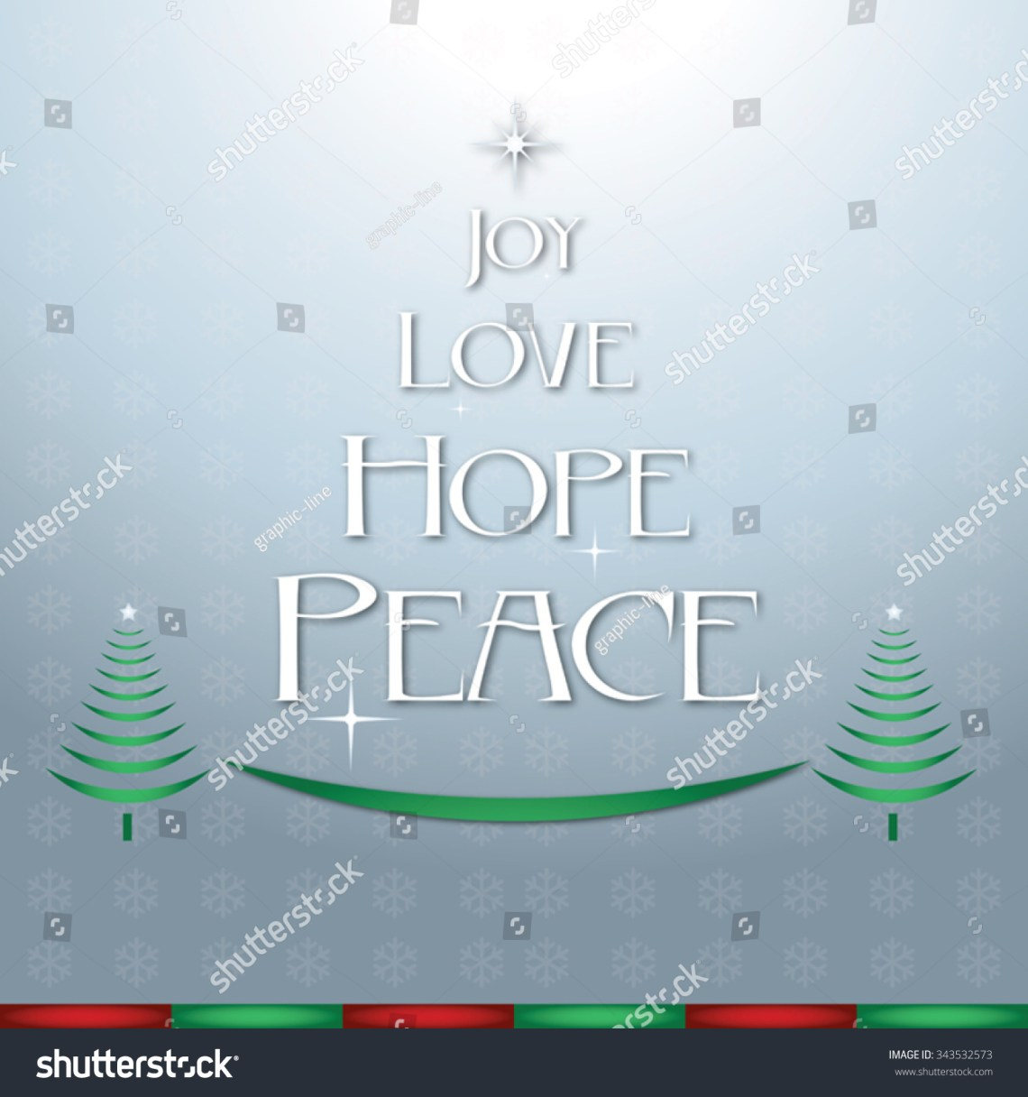 Download Joy Love Hope Peace Christmas Silver Stock Vector ...