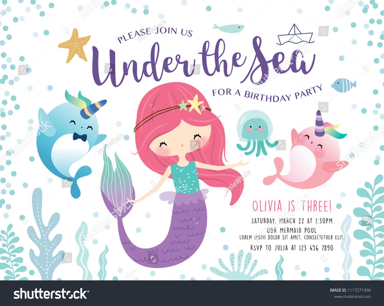 https www shutterstock com image vector kids birthday party invitation card cute 1117271996