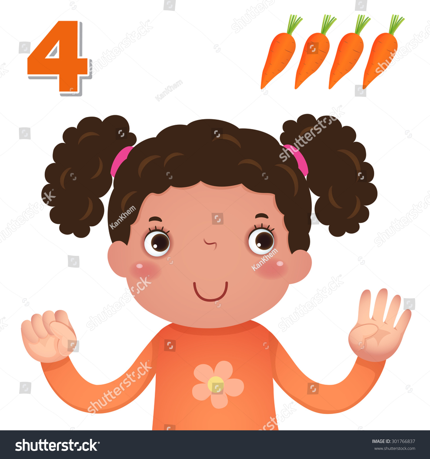 Kids Learning Material Learn Number Counting Stock Vector
