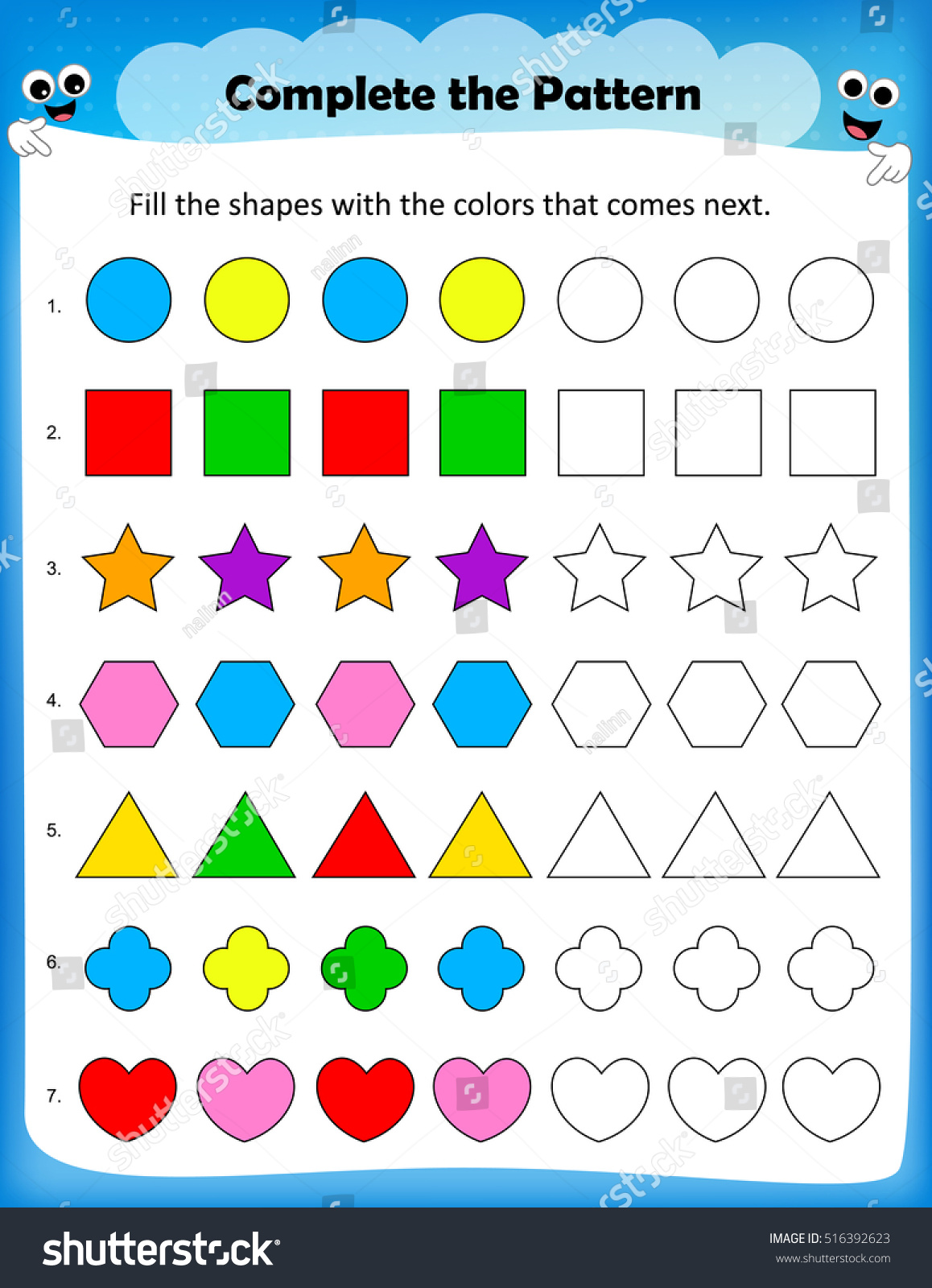 Pattern Learning Worksheet