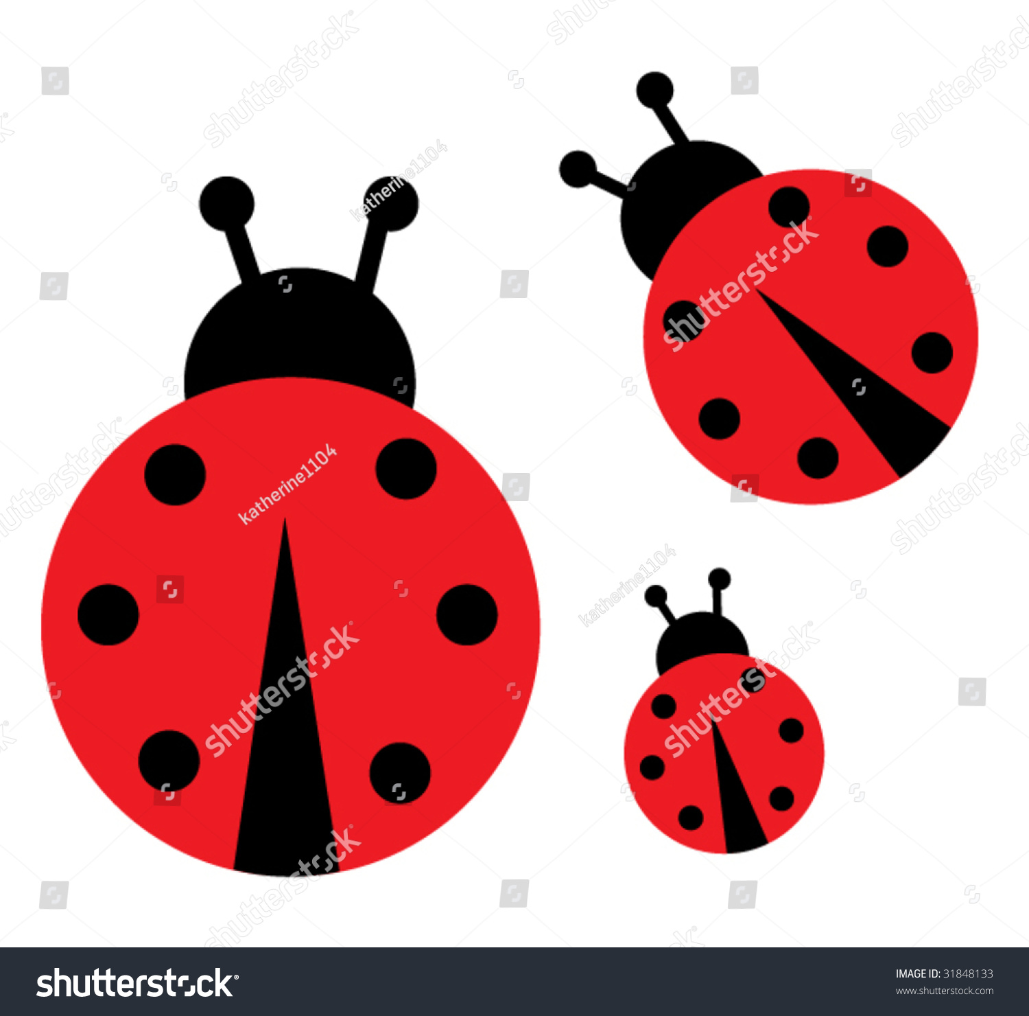 Lady Bug Stock Vector