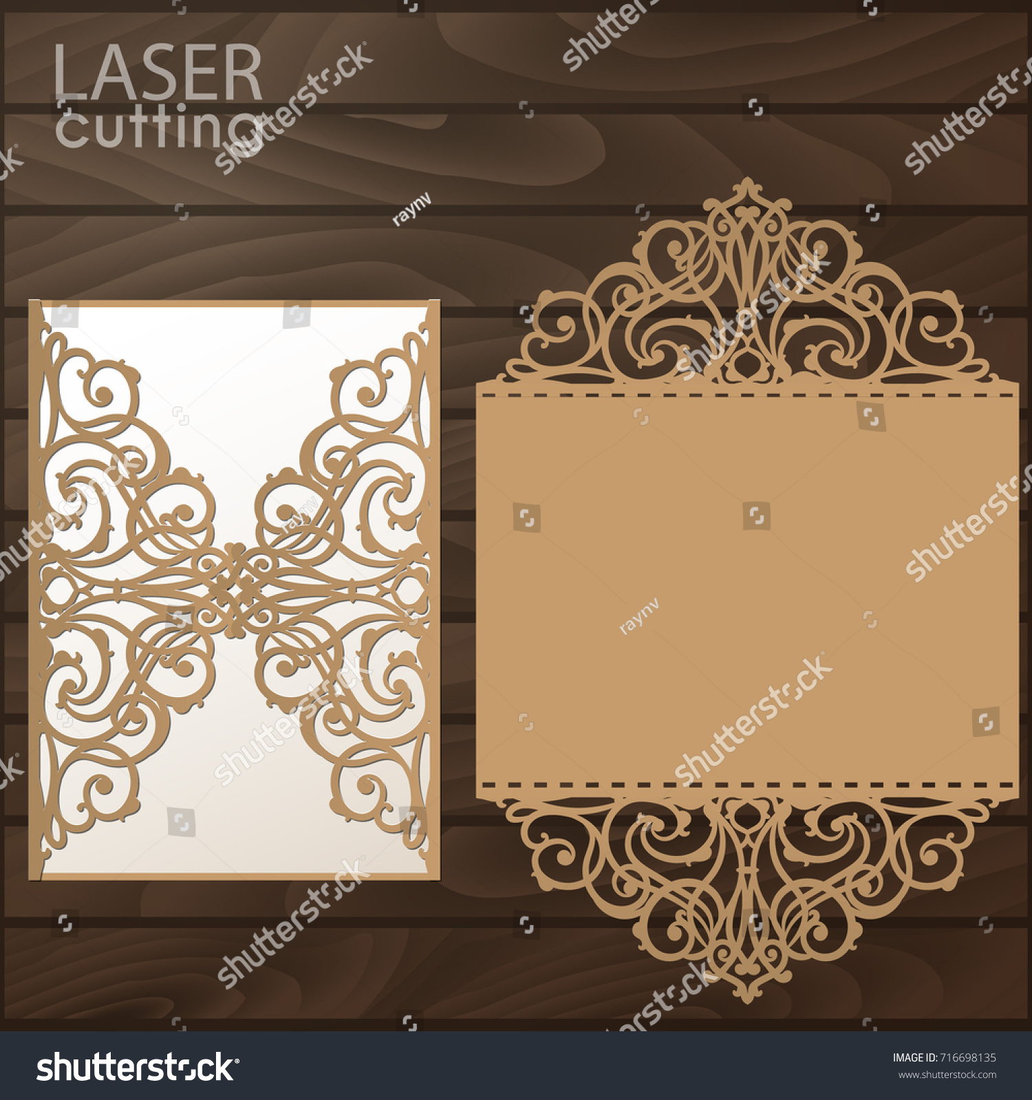 Laser Cut Gate Invitation