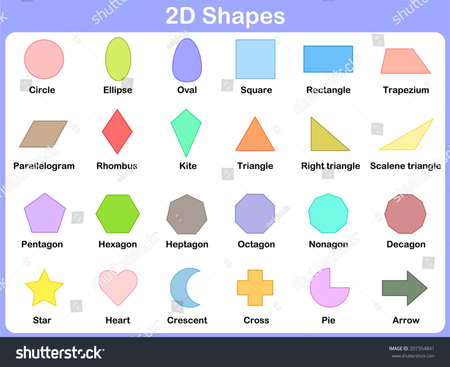 Learning The Shapes For Kids Stock Vector Illustration