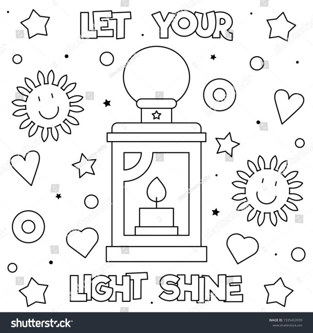 Let Your Light Shine Coloring Page Stock Vector (Royalty Free