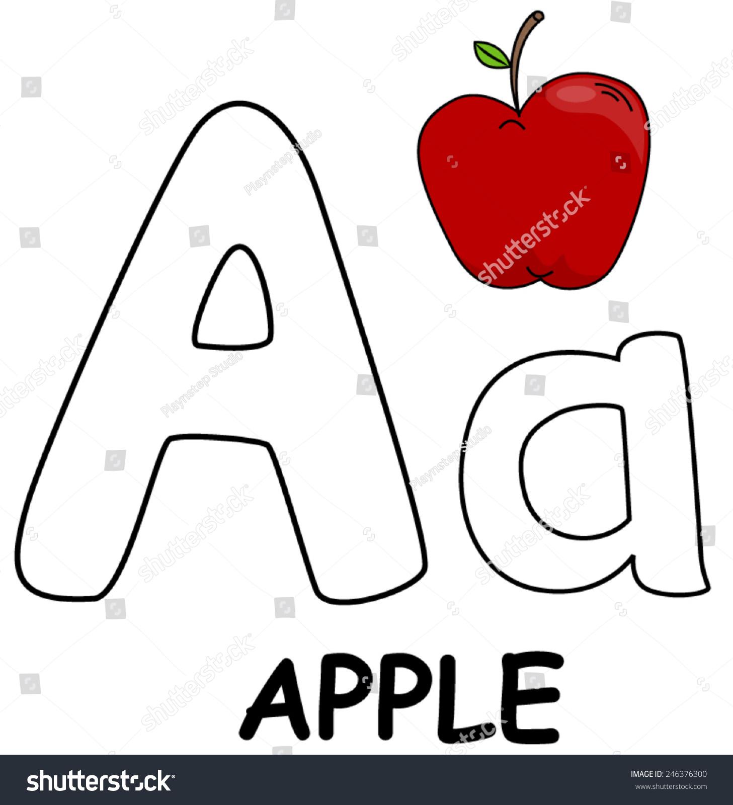 Letter Apple Stock Vector