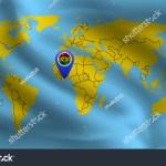 Location Ghana Mark On World Map Stock Vector Royalty Free 1431985007