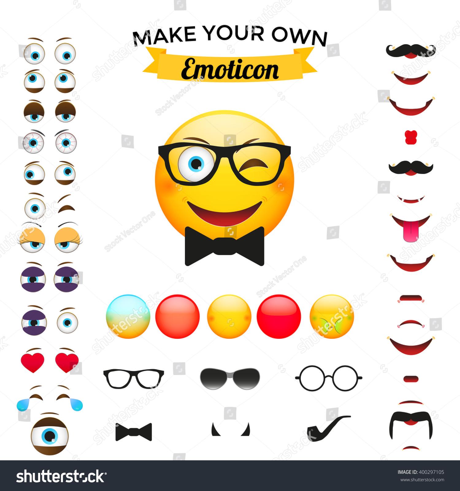 Make Your Own Emoticon Emoticon Creator Stock Vector