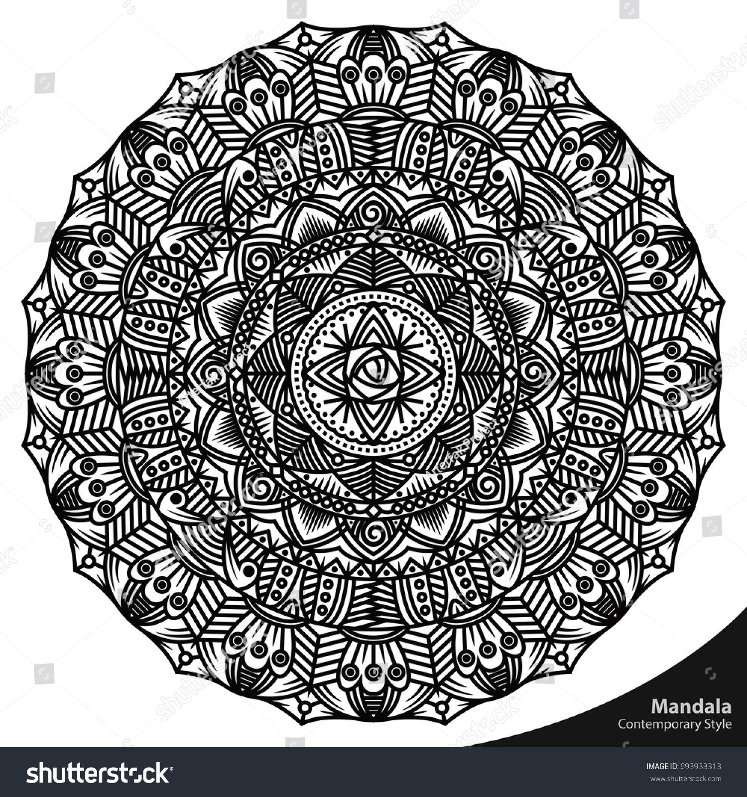 Mandala Worksheet Elements Of Art