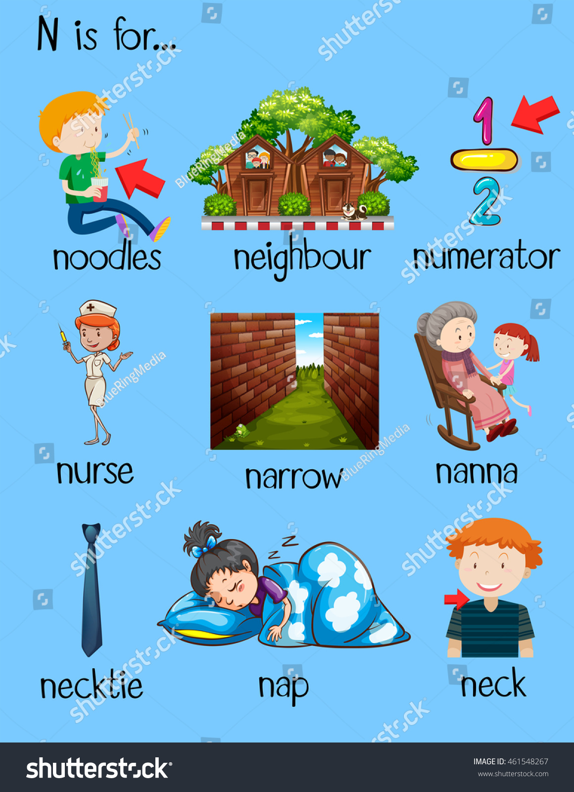 Things That Start With The Letter N For Preschoolers