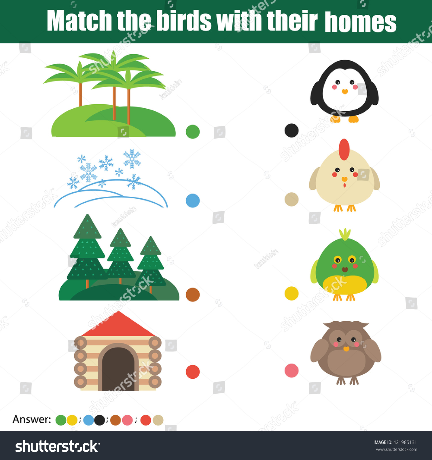 M Tch Birds Homes Children Educ Ti G Me Stock Vect 421985131