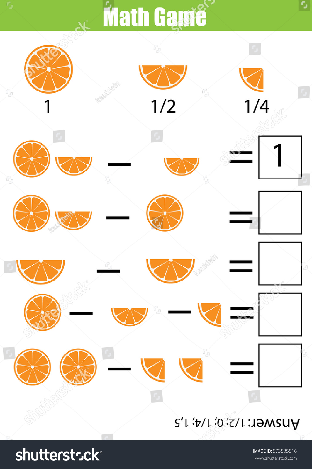 Mathematics Educational Game Children Learning Counting