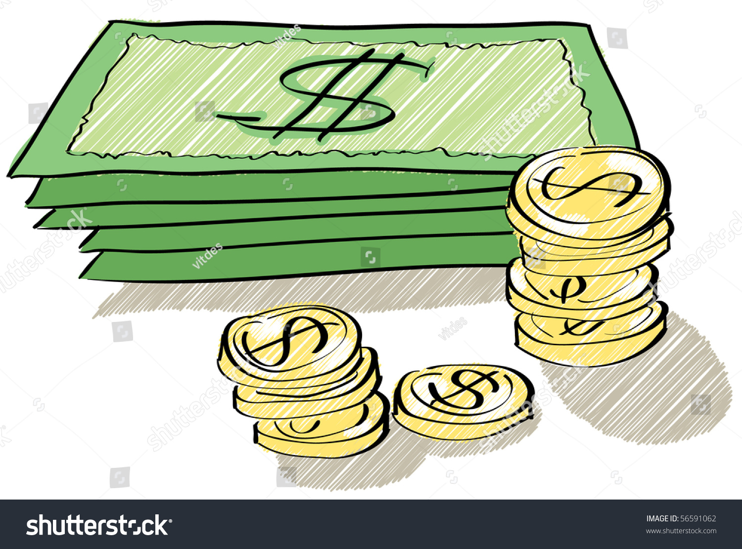 Money Coins Worksheet Drawing