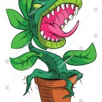 Monster Plant Stock Vector Royalty Free 215646436