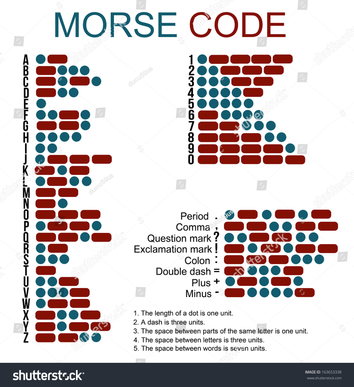 Morse Code Useful Education Vector Illustration Stock