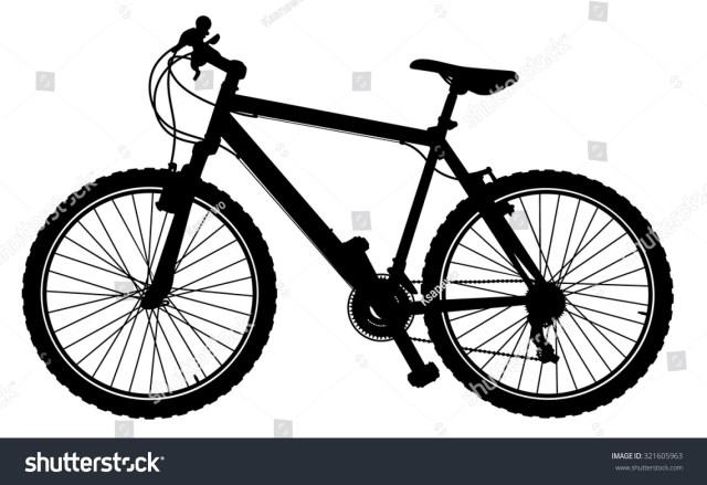 Mountain Bike Silhouette Vector Stock Vector 321605963 ...