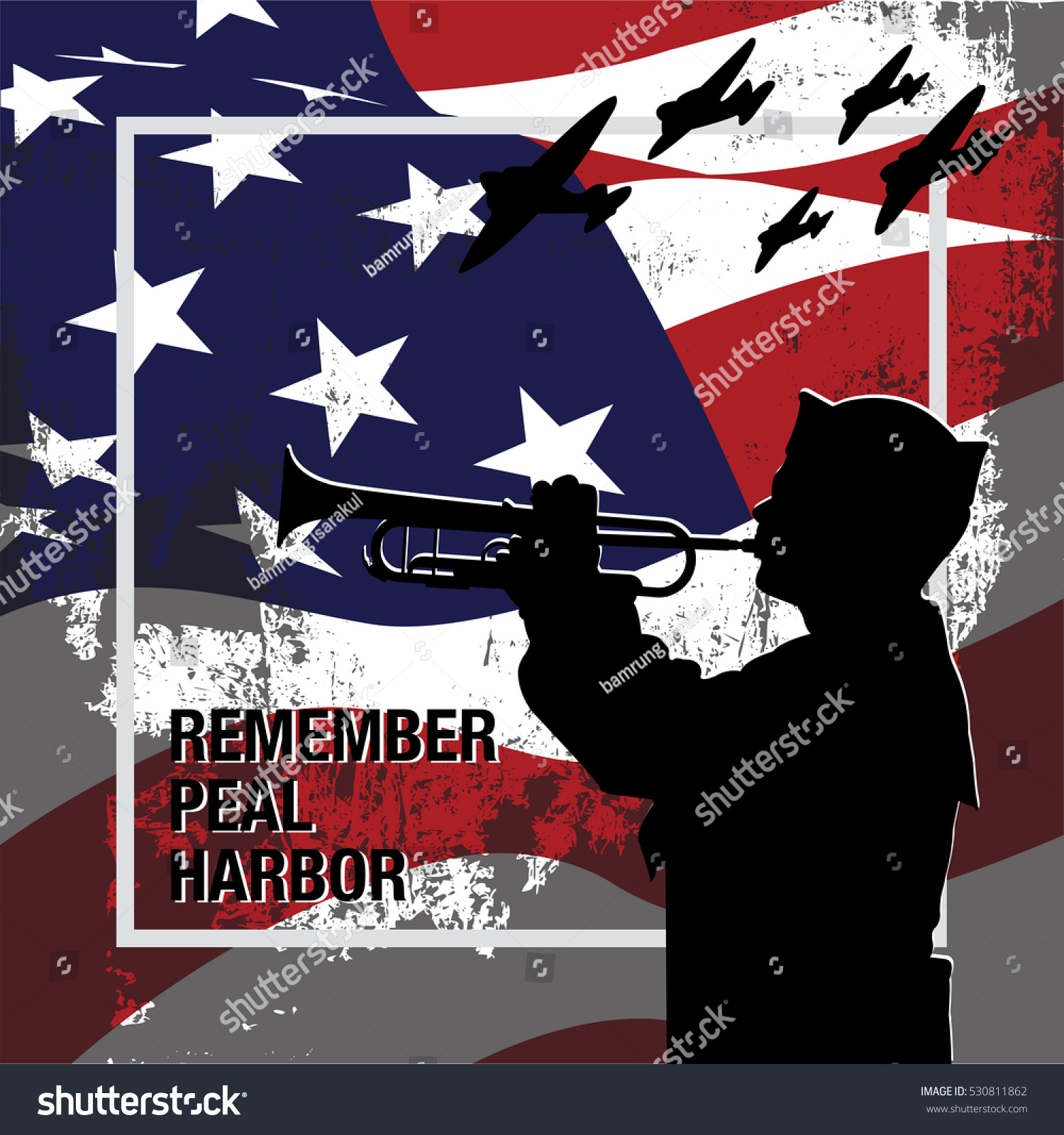 National Pearl Harbor Remembrance Day Stock Vector