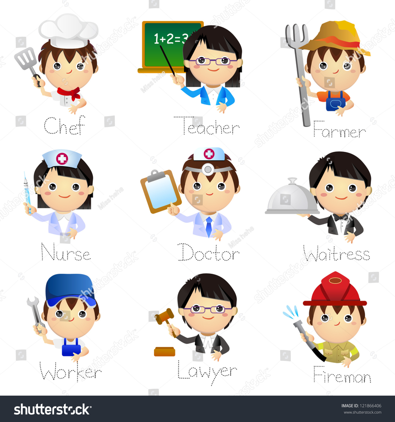 Occupation Icons Stock Vector