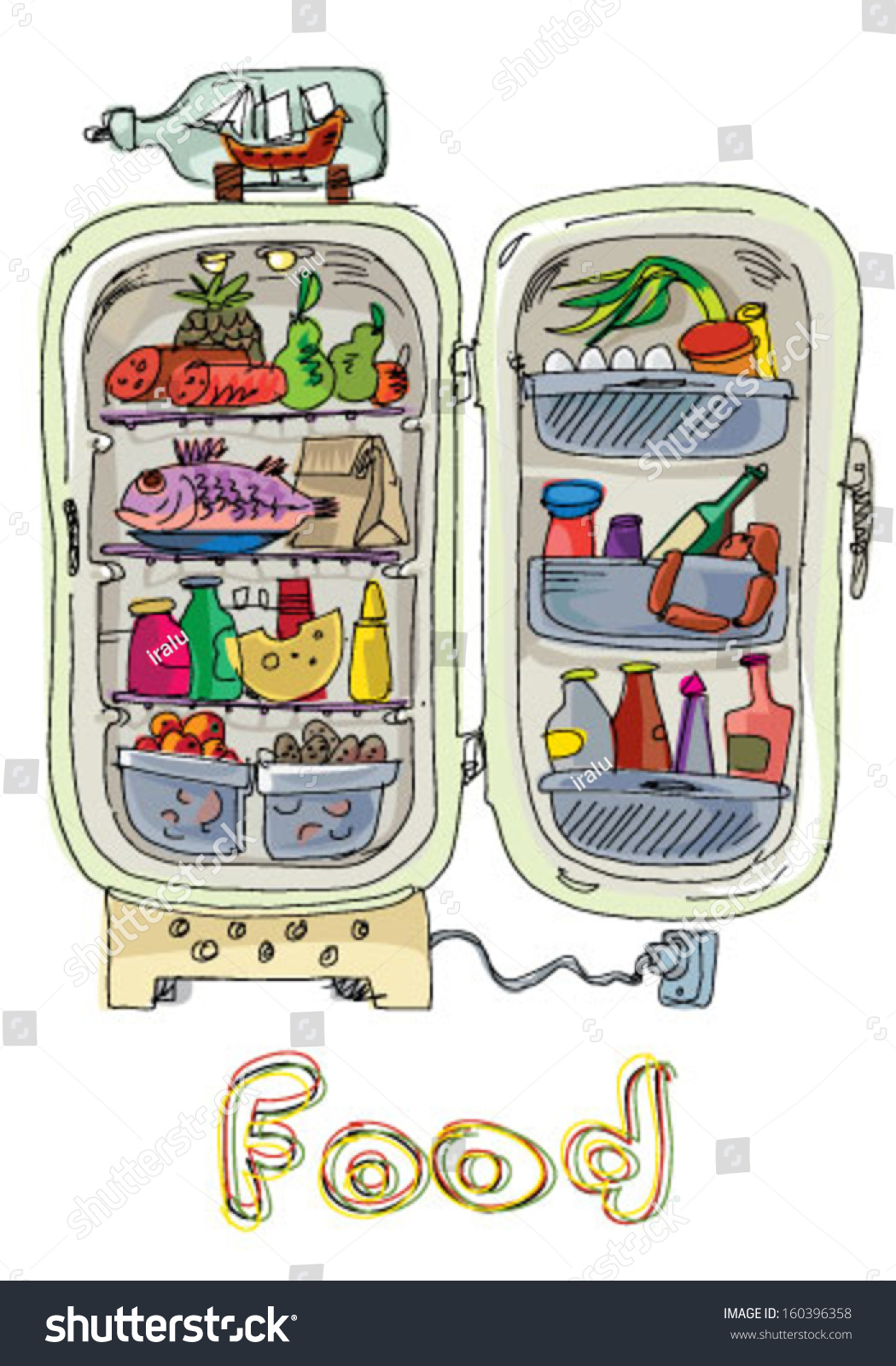 Vegetables Full Art Clip Fridge