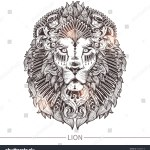 Ornamental Tattoo Lion Head Highly Detailed Stock Vector Royalty Free 358089818