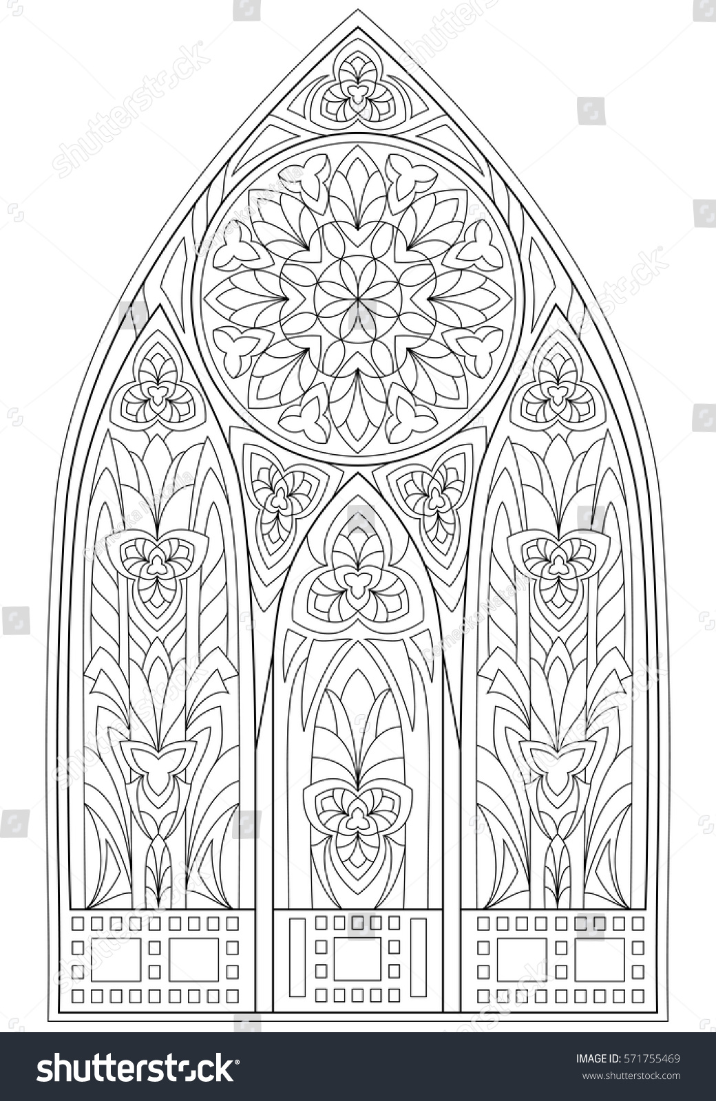 Page Black White Drawing Beautiful Me Val Stock Vector