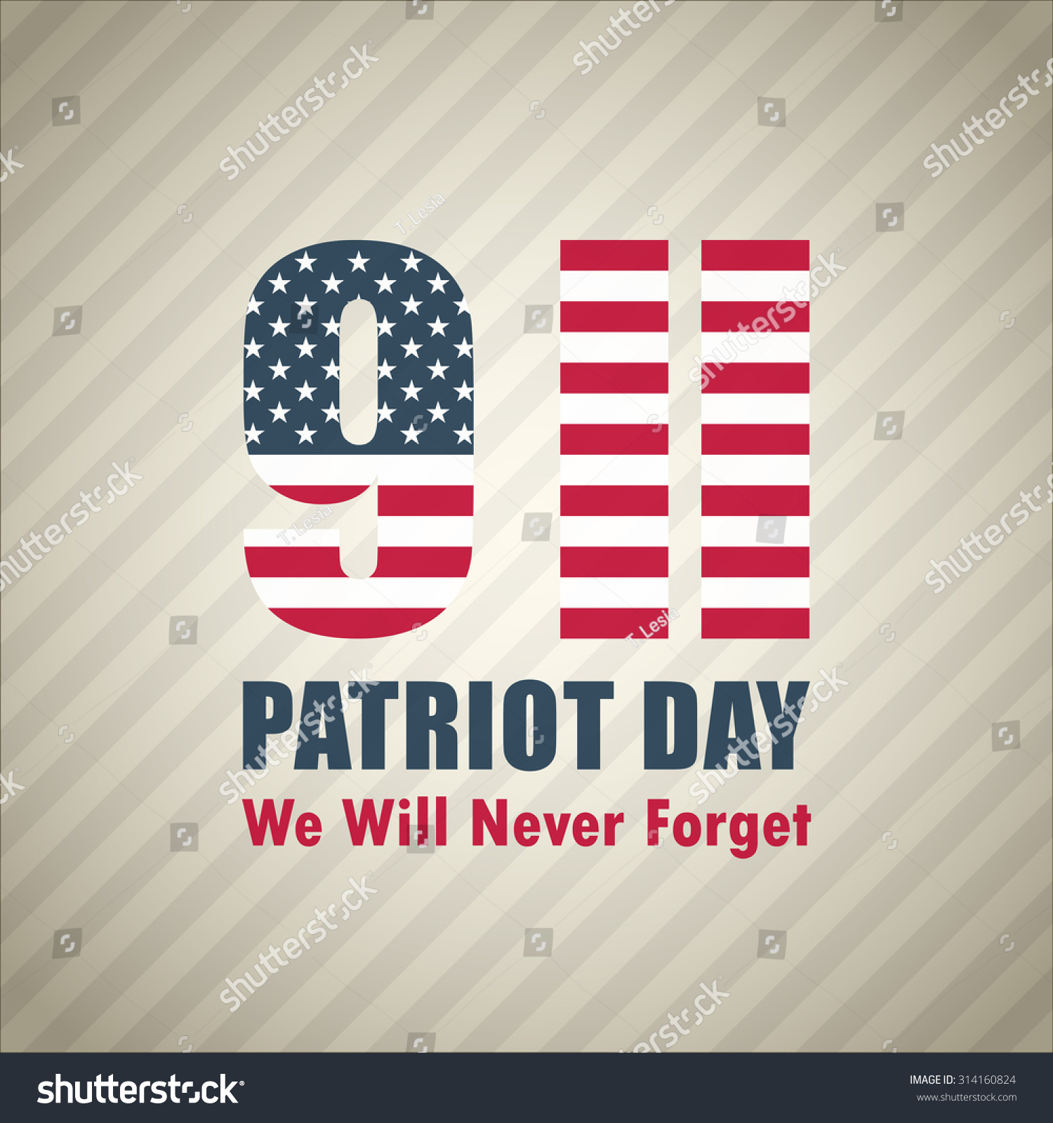 Patriot Day September 11 Background Stock Vector