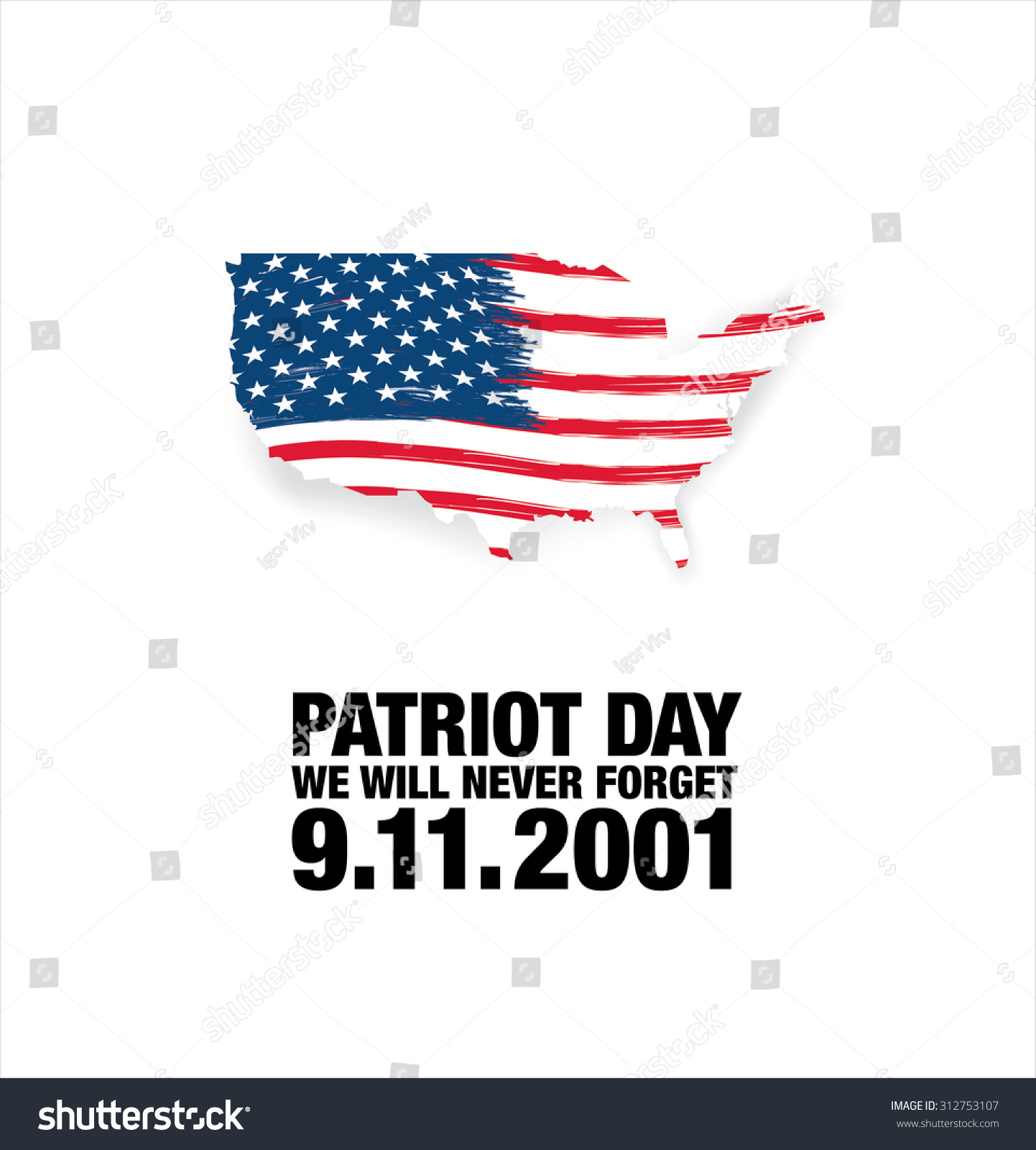 Patriot Day September 11 We Will Stock Vector