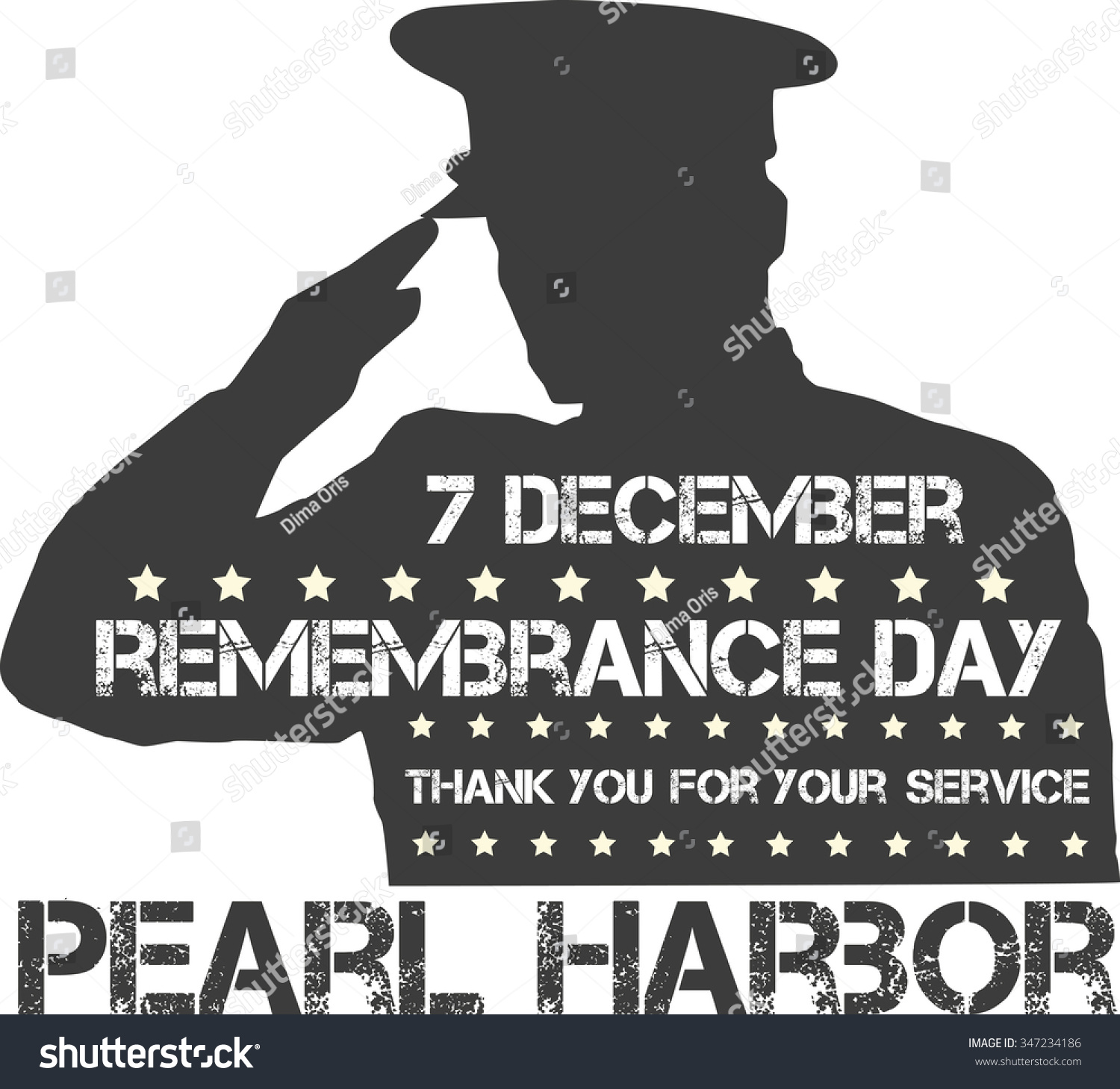 Pearl Harbor Remembrance Day Vector Illustration