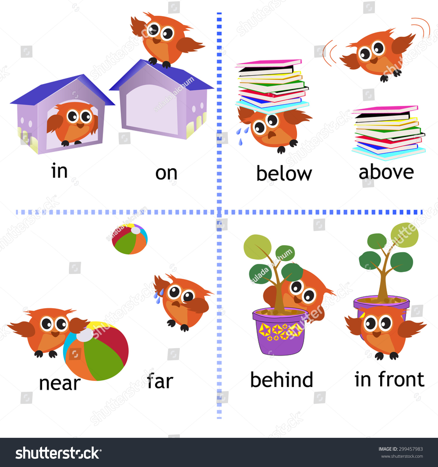 Prepositions Clip Art Below Cliparts