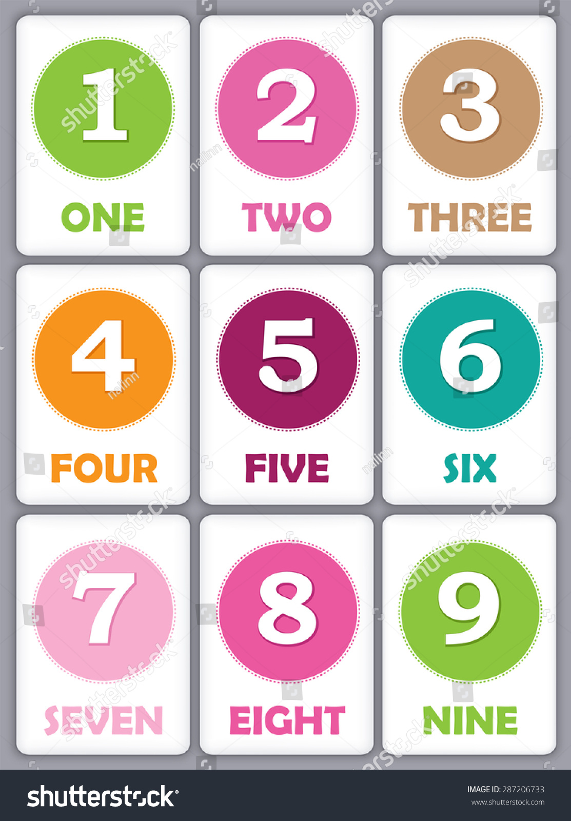 Printable Flash Card Collection For Numbers And Their