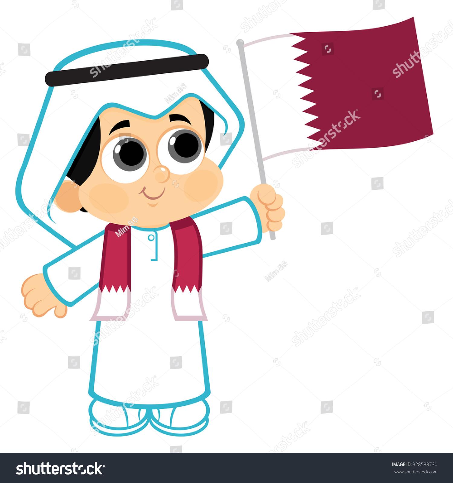 Qatar National Day Celebration Stock Vector