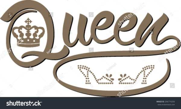 Queen Design Word Queen Stock Vector 206774200 - Shutterstock