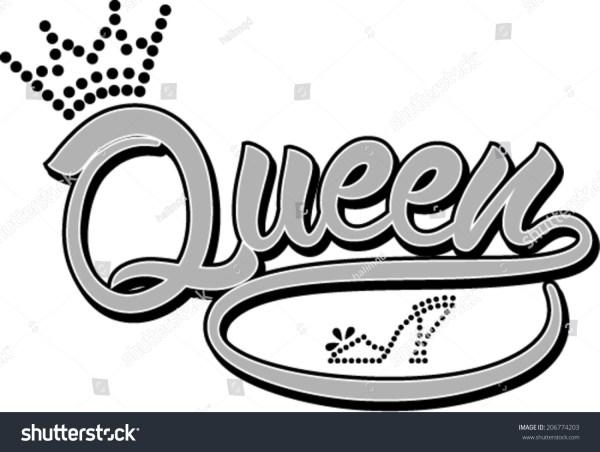 Queen Design Word Queen Stock Vector 206774203 - Shutterstock