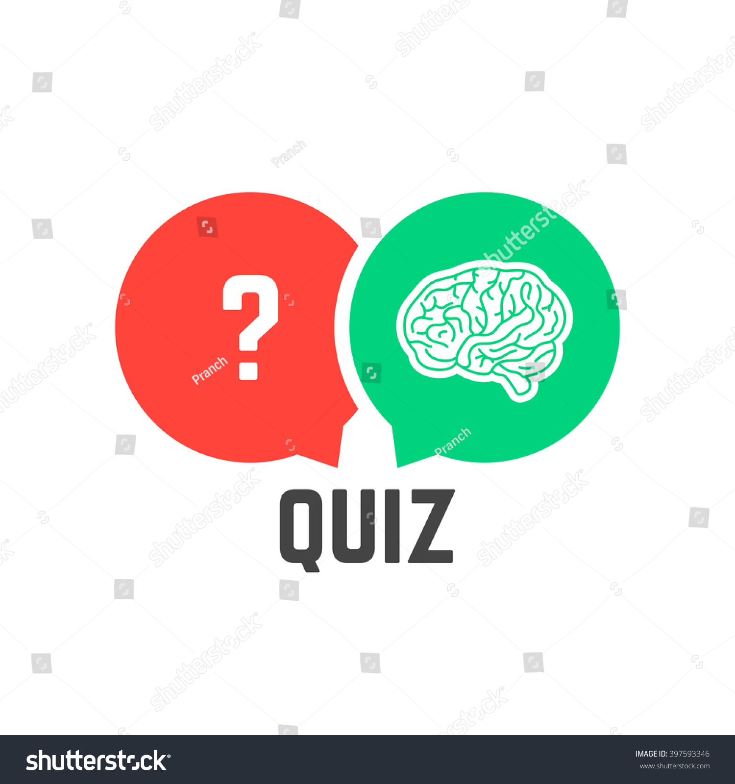 Question Mark Brain Like Quiz Concept Stock Vektor
