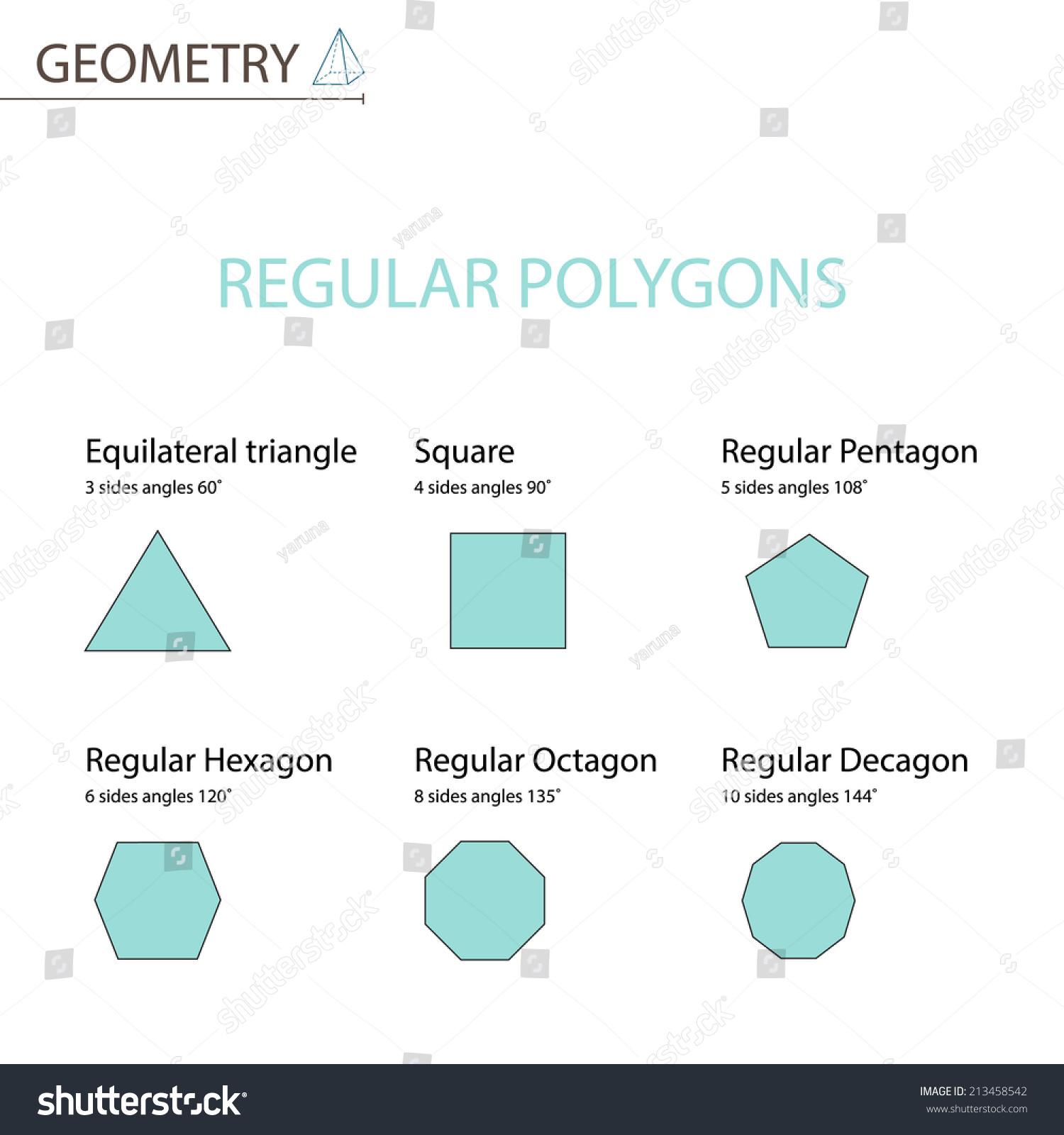 Regular Polygons Stock Vector