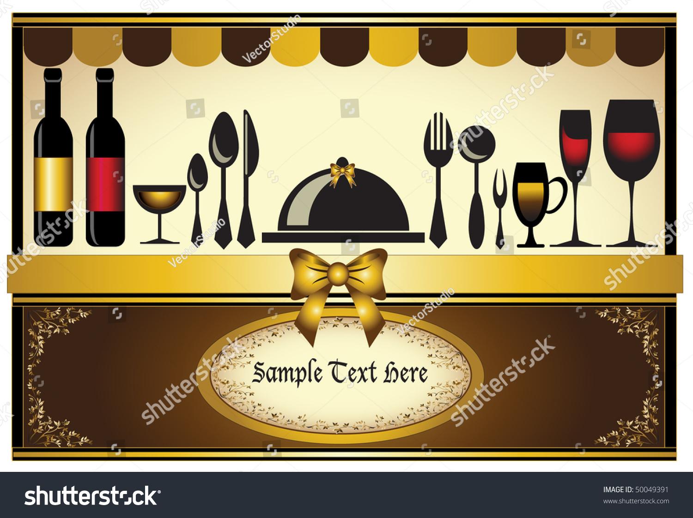https www shutterstock com image vector restaurant menu invitation card classic background 50049391