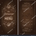 Vector De Stock Libre De Regalias Sobre Retro Vintage Restaurant Menu Dark Background190333418