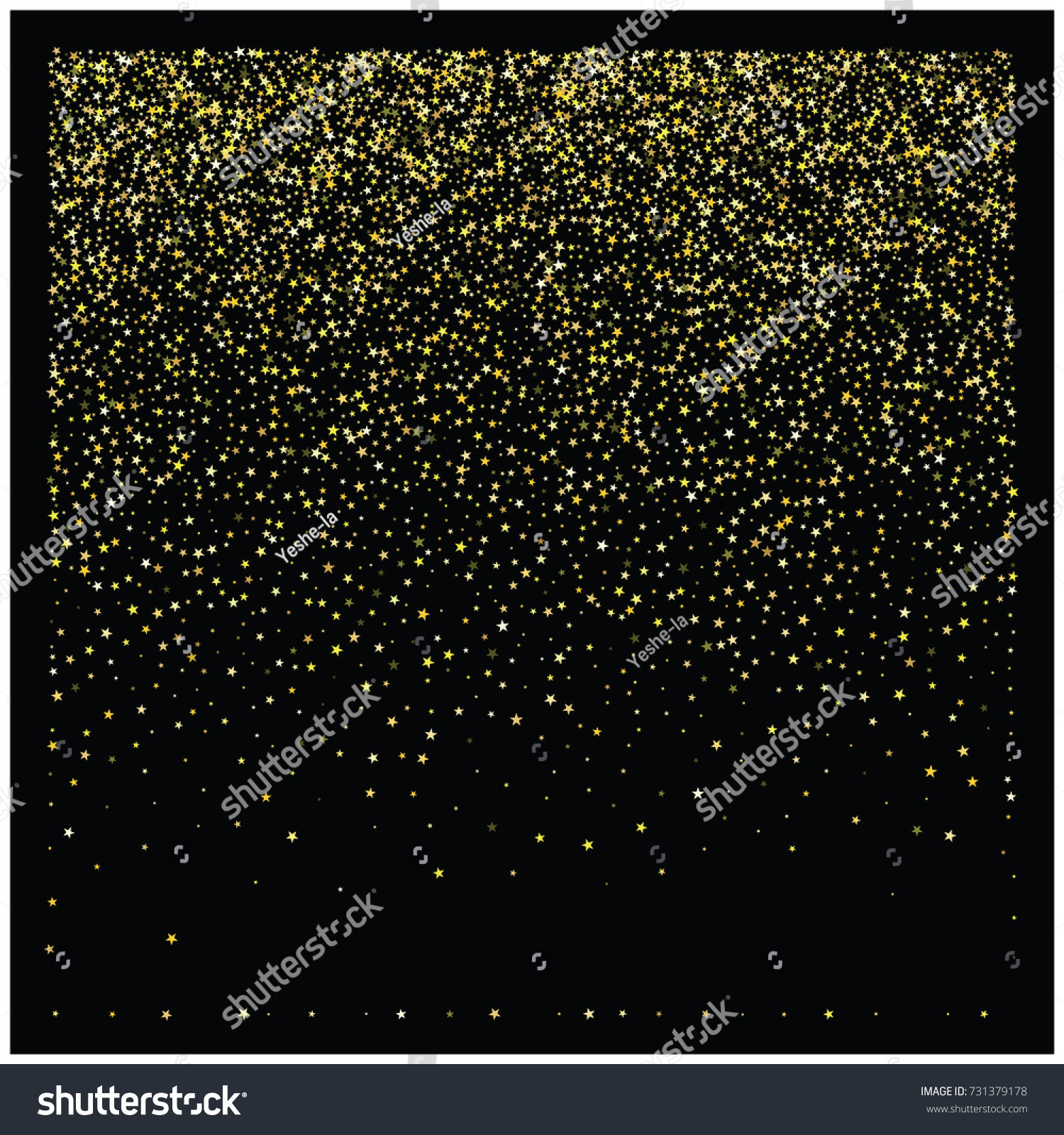 sparkle star new year border