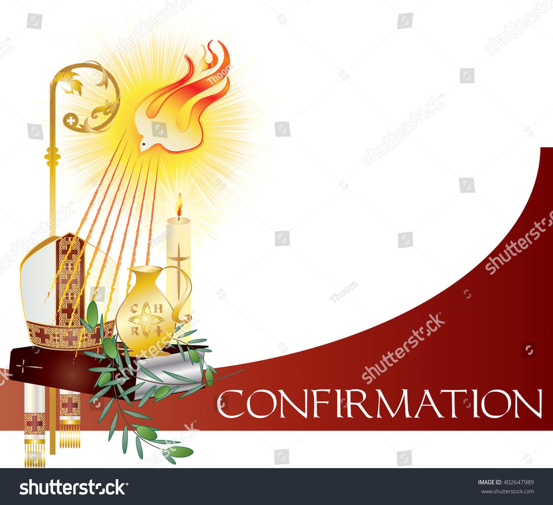 Sacrament Confirmation Symbolic Vector Drawing