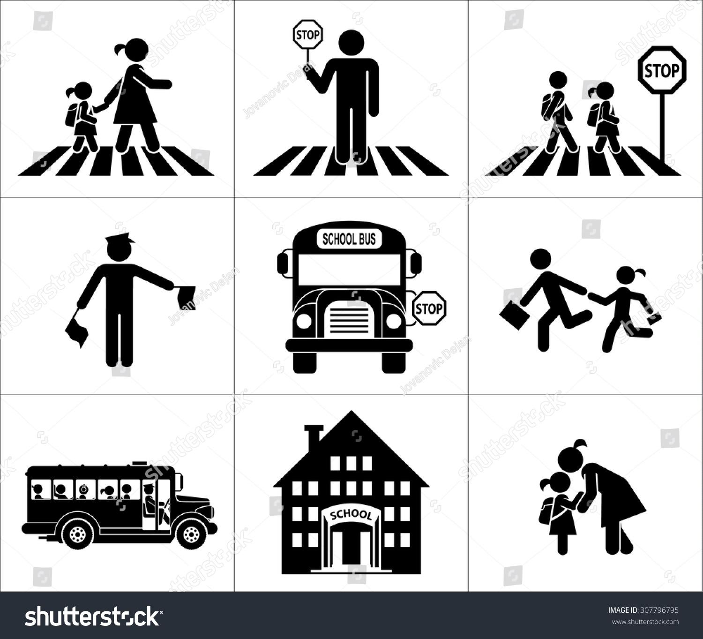 Safety Of Children In Traffic Children Go To School