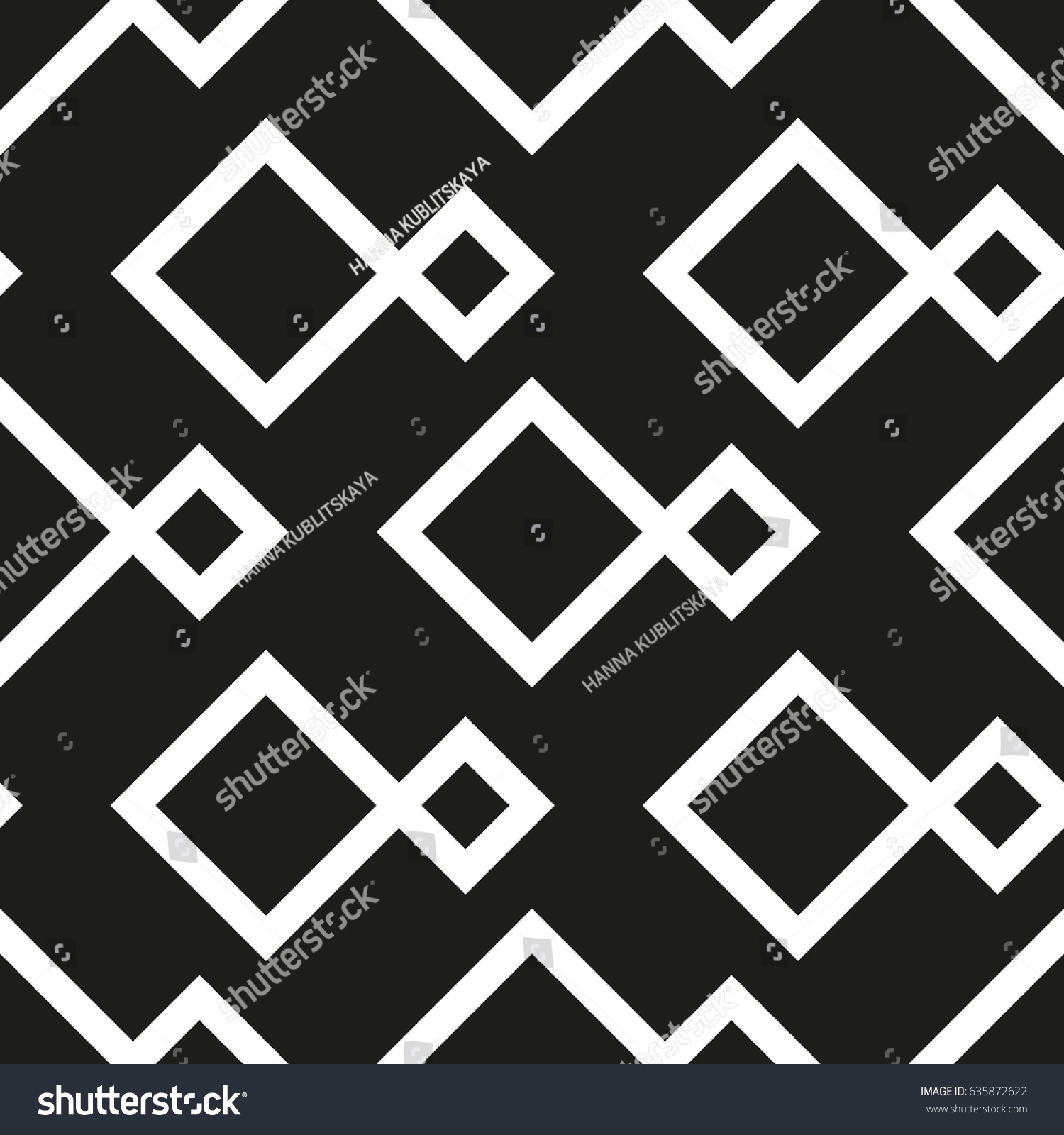 Seamless Geometric Pattern Squares Vector Art Stock Vector