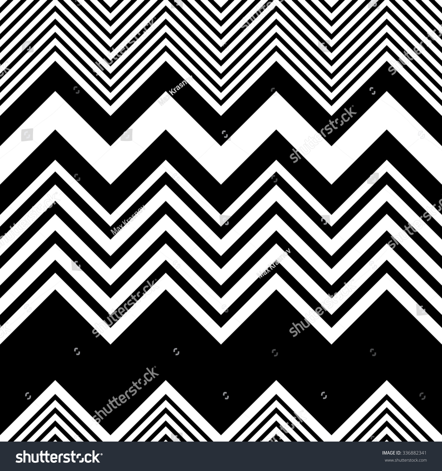 Seamless Zigzag Pattern Abstract Black White Stock Vector