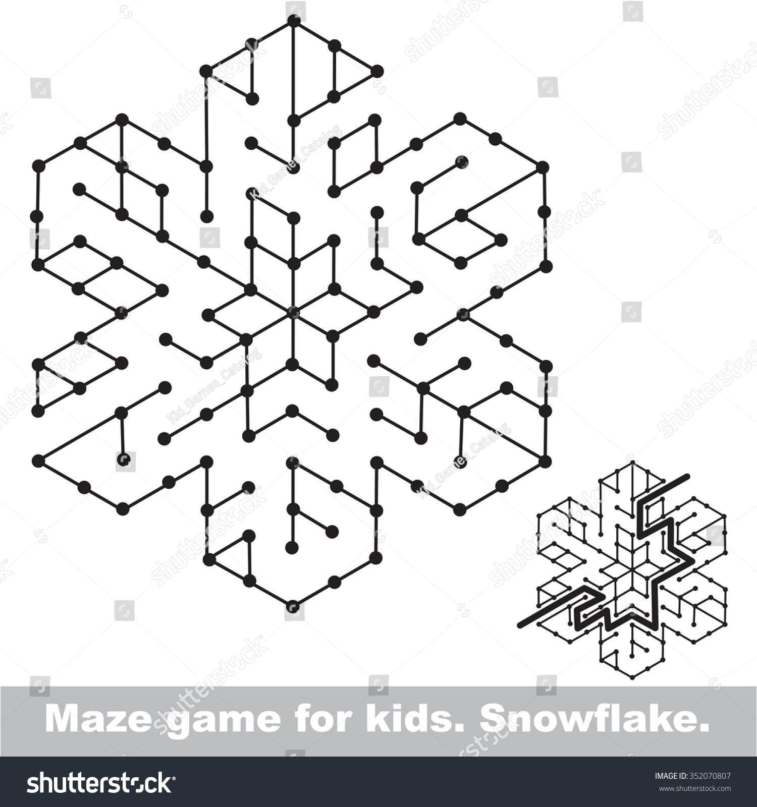 Search Way Kid Maze Game Be Stock Vector